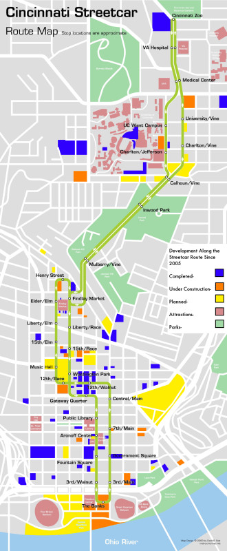 streetcar development map