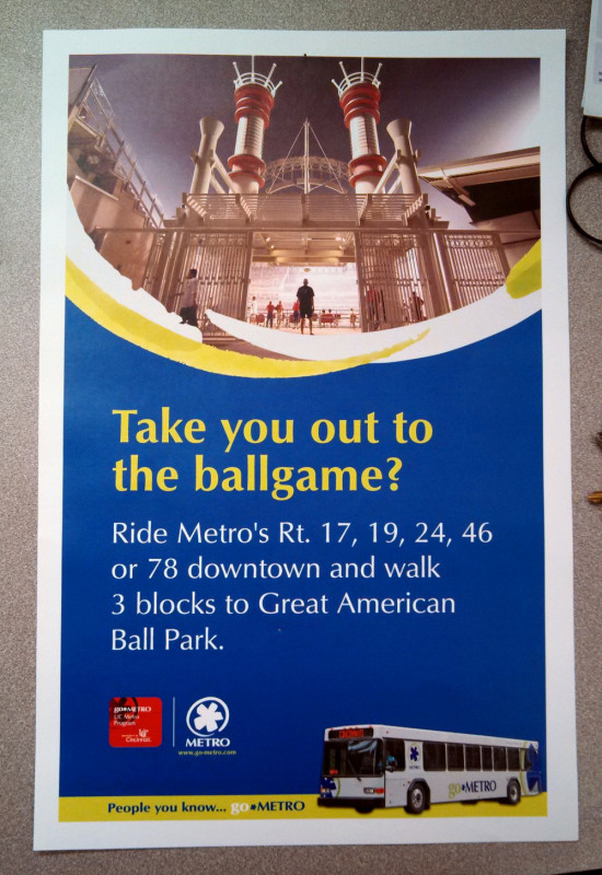 poster advertising SORTA transit services