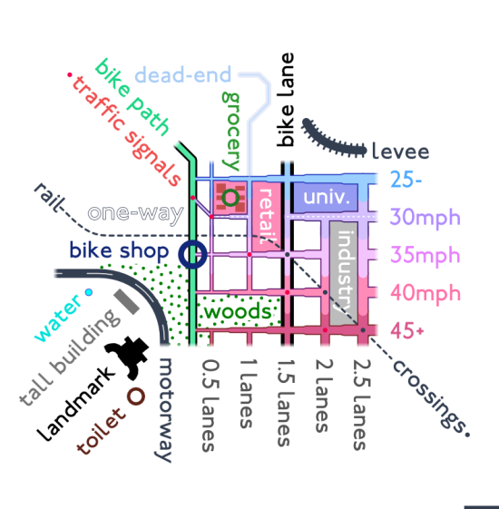 bike map legend